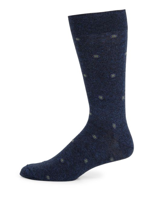 Saks Fifth Avenue | Blue Dotted Box Combed Cotton-blend Socks for Men | Lyst