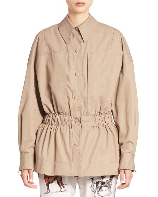 Stella McCartney | Blue Ruched-waist Jacket | Lyst