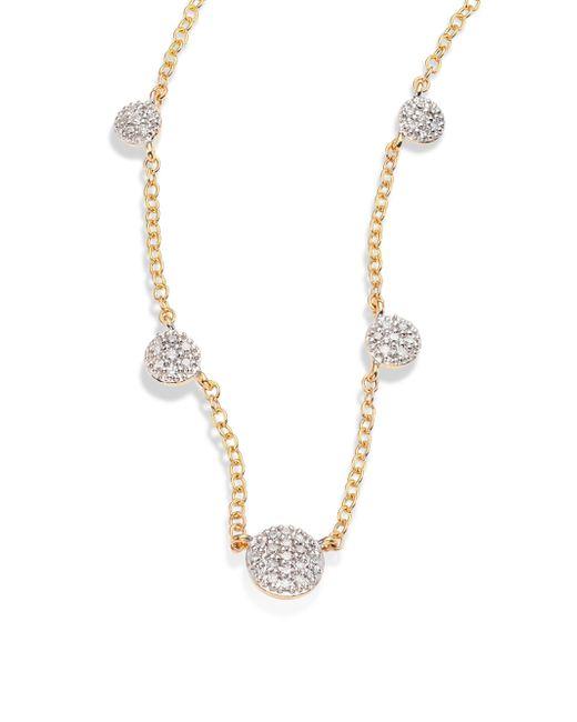 Phillips House | Metallic Affair Diamond & 14k Yellow Gold Infinity Station Necklace | Lyst