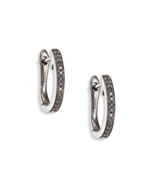 Annoushka | Metallic Eclipse Diamond & 18k White Gold Fine Hoop Earrings/1 | Lyst