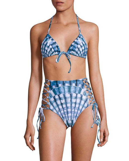 Mara Hoffman | Blue String Tie Top | Lyst