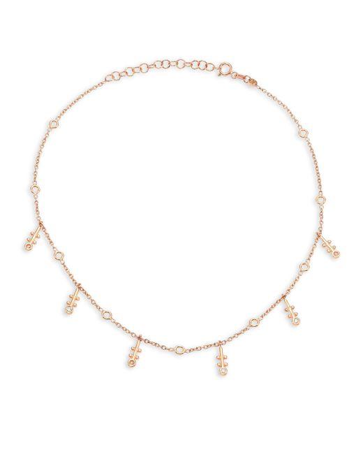 Kismet by Milka | Metallic Bezel Diamond & 14k Rose Gold Choker | Lyst