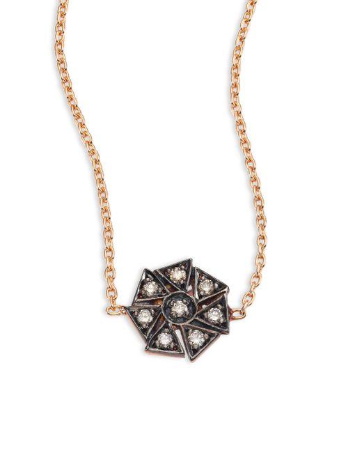 Kismet by Milka | Metallic Geometrical Champagne Diamond & 14k Rose Gold Choker | Lyst