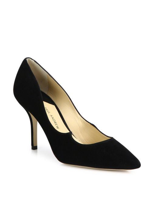 Paul Andrew | Black Kimura Suede Point Toe Pumps | Lyst