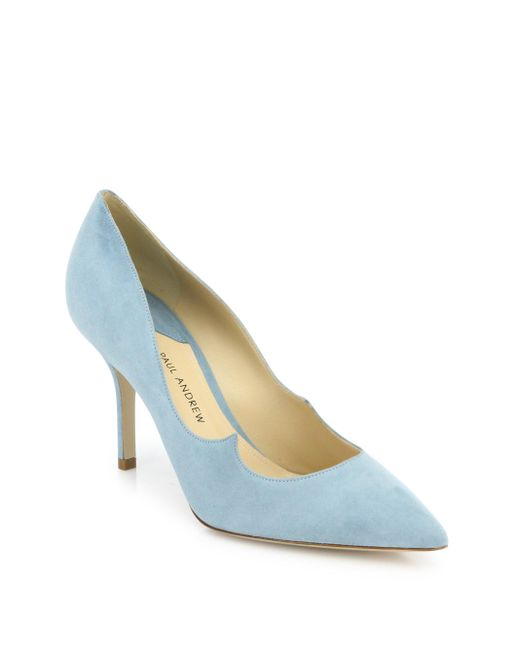 Paul Andrew | Blue Kimura Suede Point Toe Pumps | Lyst