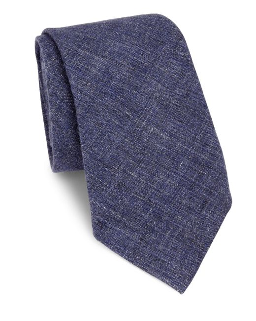 Brunello Cucinelli | Blue Cotton & Wool Tie for Men | Lyst