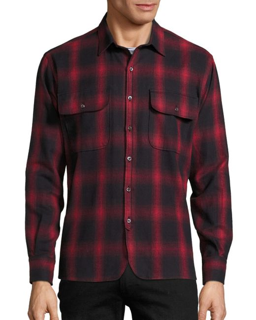 Ovadia And Sons Oversized Plaid Shirt In Red For Men Lyst