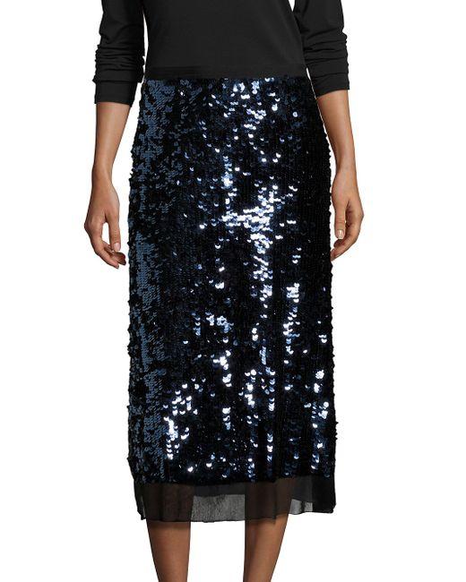 burch cove sequin midi skirt in black lyst