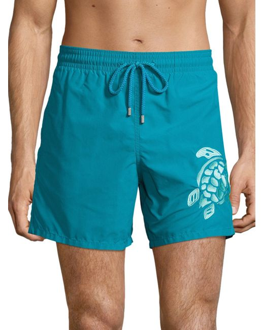 Vilebrequin | Blue Embroidered Turtle Swim Trunks for Men | Lyst