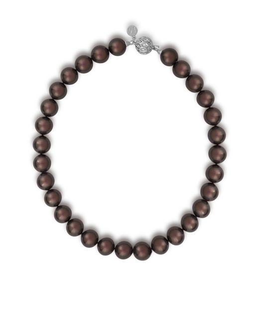 Majorica | Metallic 14mm Tahitian Pearl & Crystal Strand Necklace | Lyst