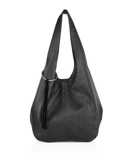 Elizabeth and James | Black Finley Leather Shopper | Lyst