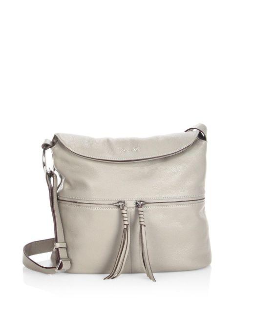 Elizabeth and James | Gray Cynnie Flap Leather Crossbody Bag | Lyst
