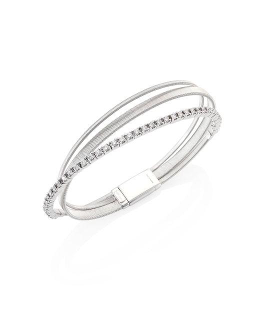 Marco Bicego | Metallic Masai Diamond & 18k White Gold Three-row Bracelet | Lyst