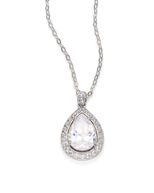 Adriana Orsini   Metallic Crystal Pear Pendant Necklace   Lyst