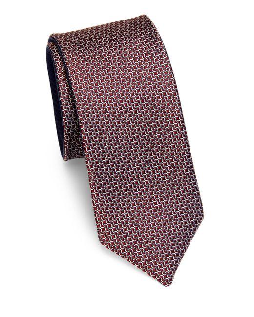 Saks Fifth Avenue | Red Mini Links Silk Tie for Men | Lyst