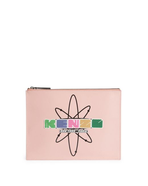 KENZO | Pink Cory Bic Whips Leather Pouch | Lyst