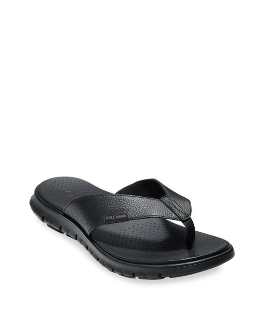 Cole Haan | Black Zerogrand Leather Strap Sandals for Men | Lyst