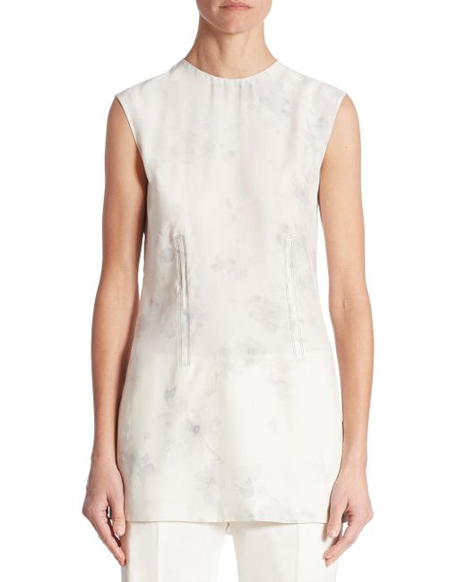 Calvin Klein | White Sleeveless Faded Blouse | Lyst