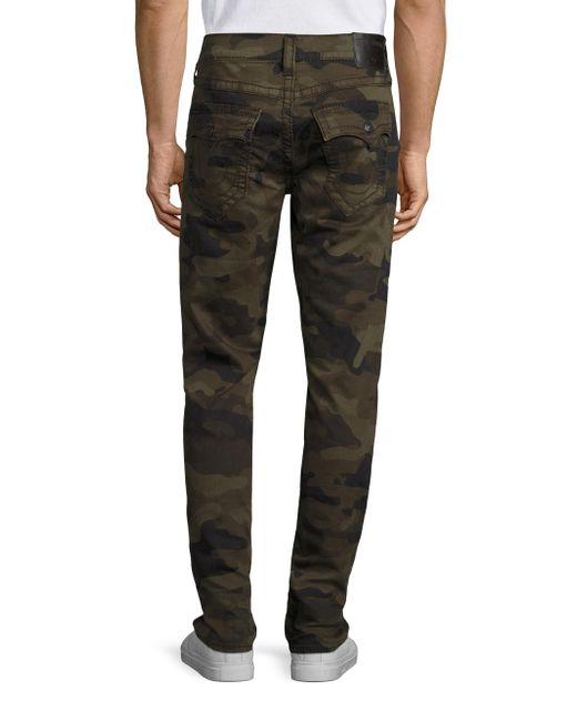 True Religion Ricky Straight Fit Camo Jeans For Men Lyst