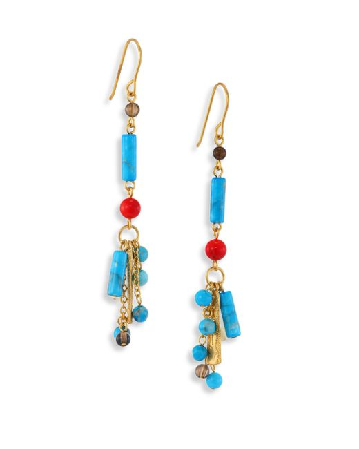 Stephanie Kantis | Blue Semi-precious Multi-stone Drop Earrings | Lyst