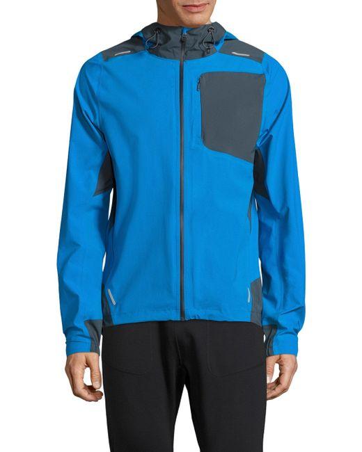 J.Lindeberg | Blue Hooded Running Jacket for Men | Lyst