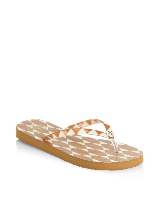 Tory Burch | Multicolor Printed Thin Flip Flops | Lyst