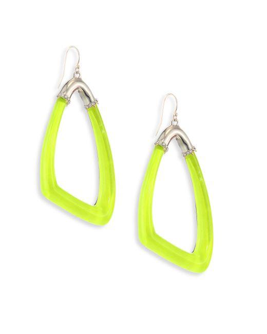 Alexis Bittar   Yellow Lucite Asymmetrical Hoop Earrings   Lyst