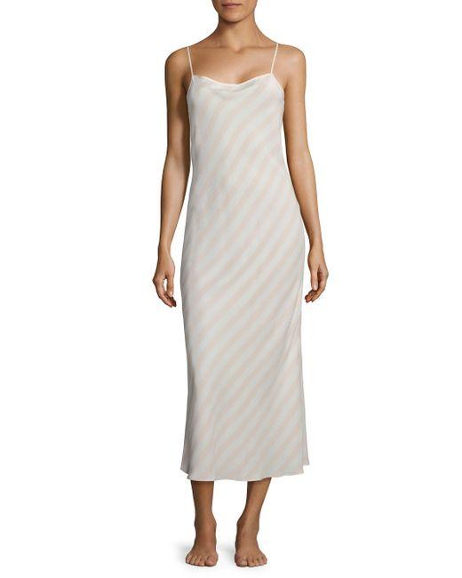 Sleepy Jones | Pink Wharton Silk Slip Dress | Lyst