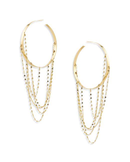Lana Jewelry | Metallic Bond Large Blake 14k Yellow Gold Vanity Hoop Earrings/2 | Lyst