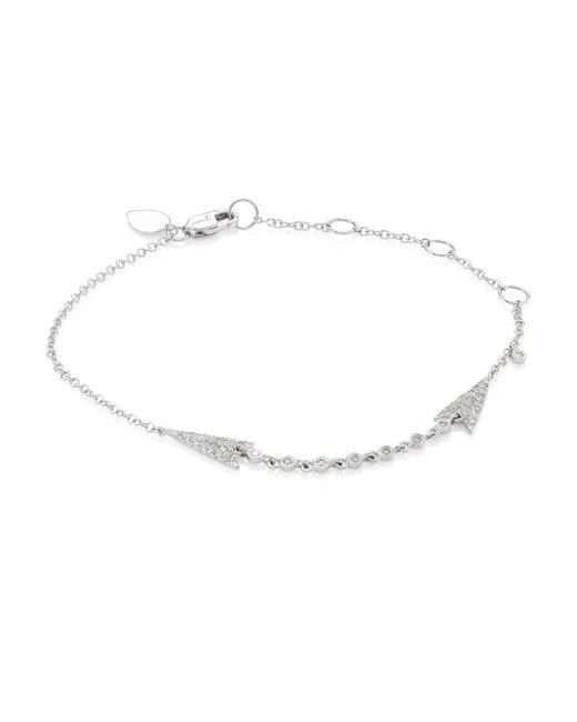 Meira T   Multicolor Arrow Diamond & 14k White Gold Bracelet   Lyst