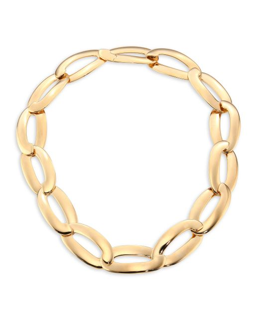 Vhernier   Metallic Olimpia 18k Rose Gold Link Necklace   Lyst