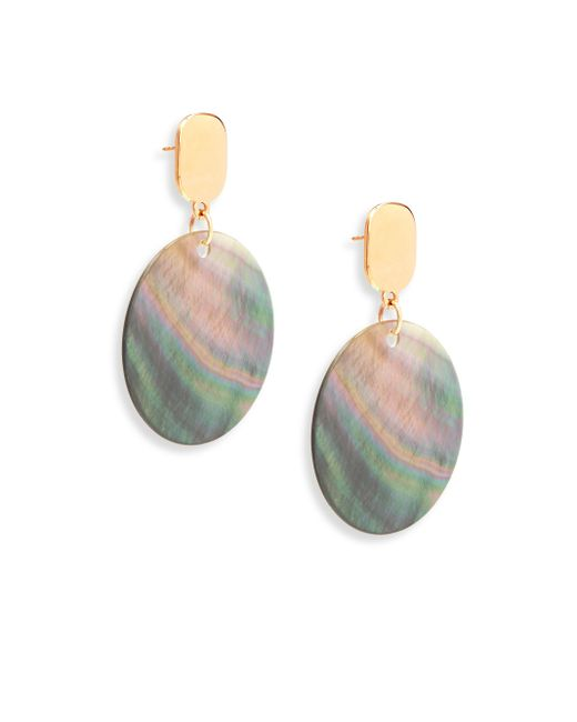 Nest | Gray Statement Grey Mother-of-pearl Drop Earrings | Lyst