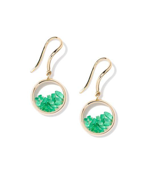 Aurelie Bidermann   Green Chivor Emerald & 18k Yellow Gold Earrings   Lyst