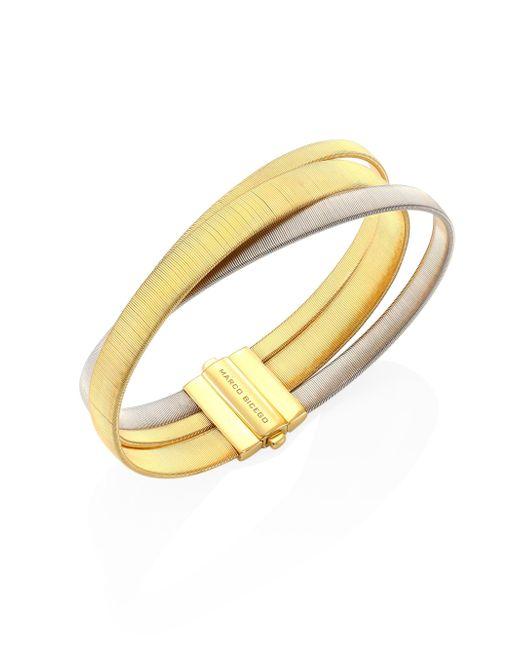 Marco Bicego | Metallic Masai 18k Yellow & White Gold Three-strand Bracelet | Lyst