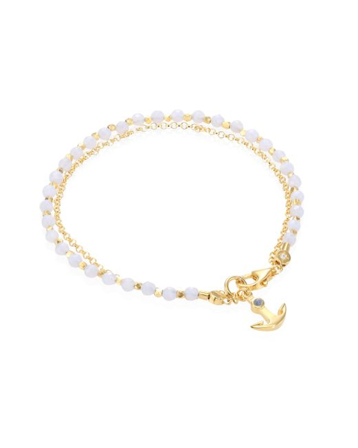 Astley Clarke | Biography Blue Lace Agate, Lapis & White Sapphire Anchor Bracelet | Lyst