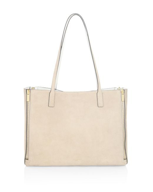 Luana Italy | Multicolor Riley Reversible Leather & Suede Tote | Lyst