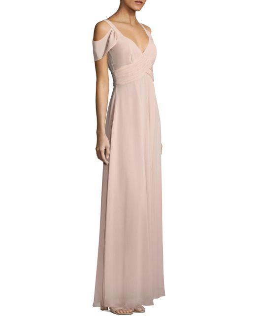 Laundry by Shelli Segal   Pink Cold-shoulder Shirred Gown   Lyst