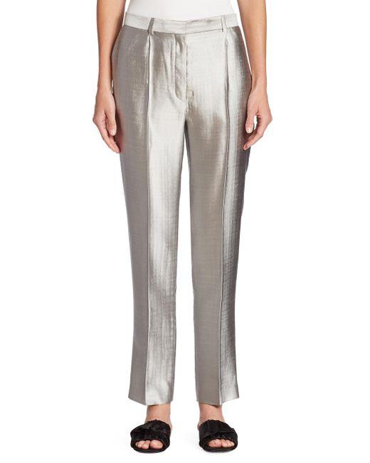 The Row | Gray William Wool & Silk Pants | Lyst