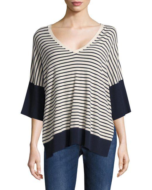 Weekend by Maxmara | Black Coccole Striped Sweater | Lyst