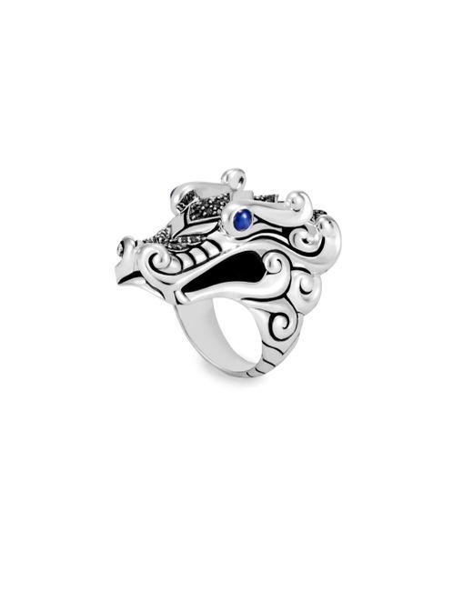 John Hardy | Metallic Legends Naga Black & Blue Sapphire Ring | Lyst