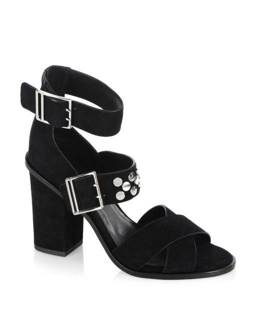Rebecca Minkoff   Black Jennifer Leather Sandals   Lyst