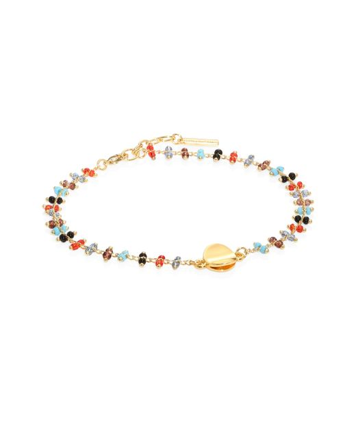 Elizabeth and James | Metallic Jessie Seed Bead Anklet | Lyst