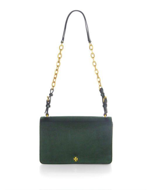 Tory Burch   Green Sadie Velvet Shoulder Bag   Lyst