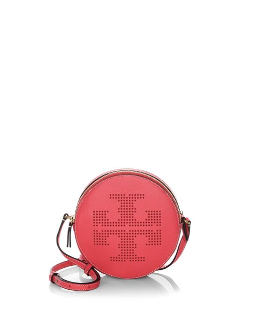 Tory Burch | Red Perforated Logo Crossbody Bag | Lyst