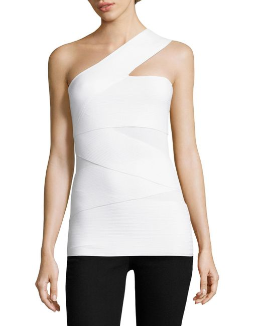 Bailey 44 | White Spin Out One-shoulder Top | Lyst
