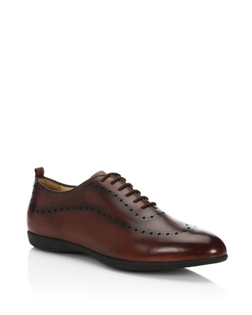Sutor Mantellassi | Brown Walsh Hybrid Leather Low Top Sneakers for Men | Lyst