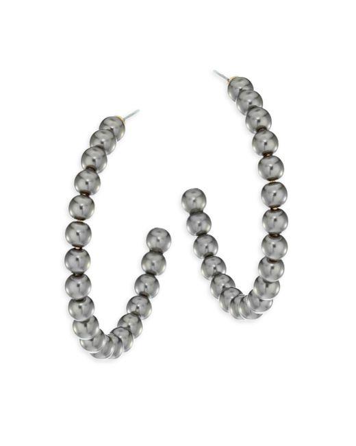 Lele Sadoughi | Metallic Concrete Jungle Faux-pearl Hoop Earrings/1.5 | Lyst