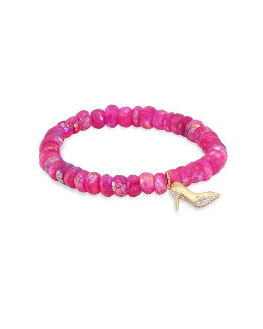 Sydney Evan   Multicolor Stiletto Diamond & Ruby Moonstone Bead Bracelet   Lyst