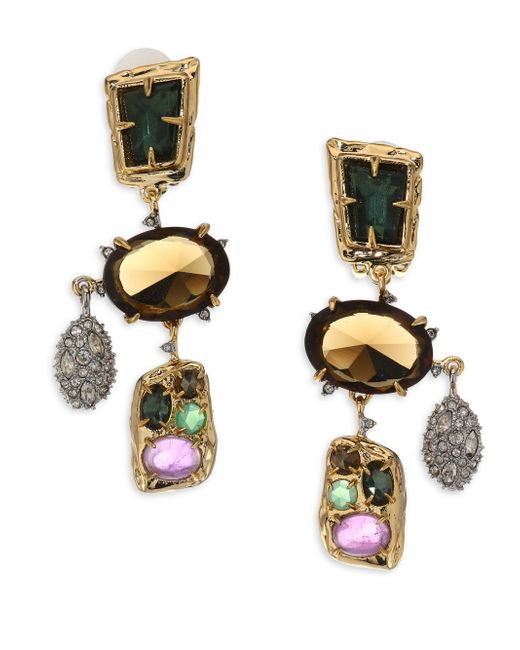 Alexis Bittar | Metallic Semi-precious Multi-stone Chandelier Earrings | Lyst