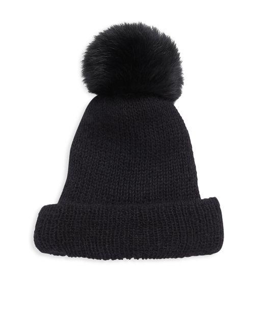 Eugenia Kim | Black Maddox Fox Fur Pom Knit Hat | Lyst